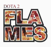 Dota 2 - Flames Serie Baby Tee