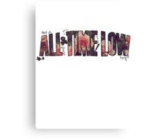 All Time Low - Flower Design Canvas Print