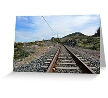 The tracks lead you Greeting Card