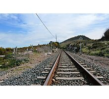 The tracks lead you Photographic Print