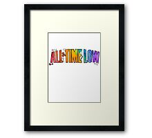 All Time Low - Paint Design Framed Print