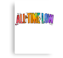 All Time Low - Paint Design Canvas Print