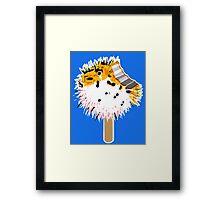 Fish Fugu Ice Cream Framed Print