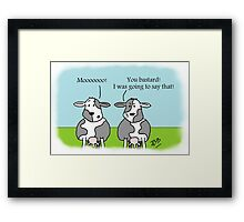 Moo! Framed Print