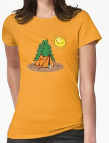 happy sleep camping Womens Fitted T-Shirt