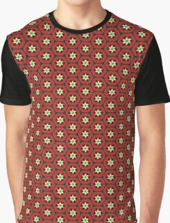 Pomegranate Retro Spiral Flowers Graphic T-Shirt