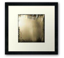 Depressions Haze Framed Print