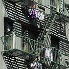 New York Fire Escape & Wash Day by AnnDixon