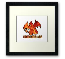 Charizard #06 Fire T-Shirt Framed Print