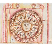 The Sun. stone symbols in the cloister. Jerónimos Monastery Photographic Print