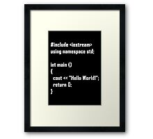 Hello World! C++ Framed Print