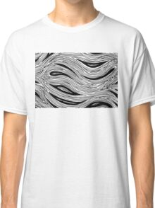 Miniature Aussie Tangle 023 in Black and White Classic T-Shirt