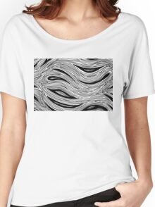 Miniature Aussie Tangle 023 in Black and White Women's Relaxed Fit T-Shirt
