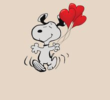 running snoopy love ballon Unisex T-Shirt