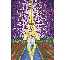 Paris in purple Photographic Print