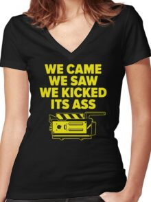 Came Saw Kicked Ass Women's Fitted V-Neck T-Shirt