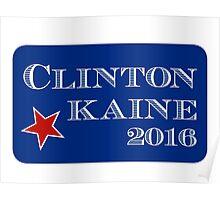 Clinton Kaine 2016 Poster