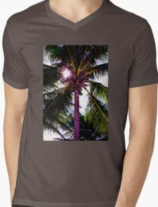 Palm tree with Retro summer filter effect Mens V-Neck T-Shirt