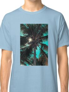 Palm tree with Retro summer filter effect Classic T-Shirt