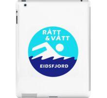 Logo Rått&Vått Isbadeklubb iPad Case/Skin