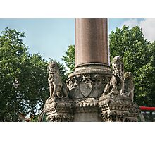 Four Lions on the Westminster Scholars War Memorial Photographic Print