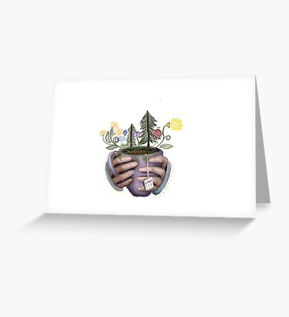 Blooming Tea Greeting Card