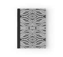 Miniature Aussie Tangle 023 Pattern in Black and White Hardcover Journal