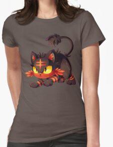 Litten approaches! Womens Fitted T-Shirt