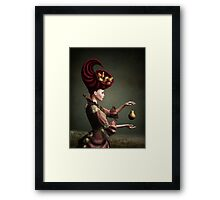 Madam Fruit and the levitating pear Framed Print