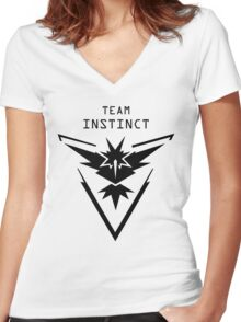 Instinct - Team Instinct - Pokemon Go Women's Fitted V-Neck T-Shirt
