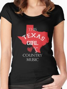 This texas girl love's country music - T-shirts & Hoodies Women's Fitted Scoop T-Shirt