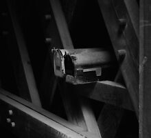 Mailboxes In The Covered Bridge II by Gary Benson