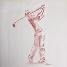 Golfer - Rory McIlroy by Paulette Farrell