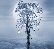 Where Angels Bloom Cyanotype by John Edwards