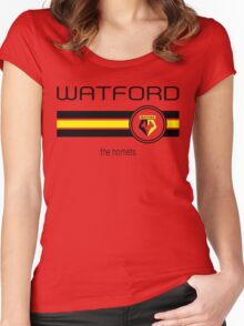 EPL 2016 - Football - Watford (Home Yellow) Women's Fitted Scoop T-Shirt