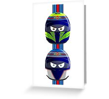 WILLIAMS_MASSA_BOTTAS_Helmets_2014 Greeting Card