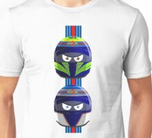 WILLIAMS_MASSA_BOTTAS_Helmets_2014 Unisex T-Shirt