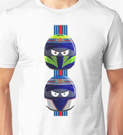 WILLIAMS_MASSA_BOTTAS_Helmets_2014 Unisex T-Shirt