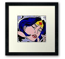 Girl Power: Wonder Woman Framed Print