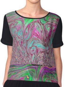 Psychedelic Bubbles Chiffon Top