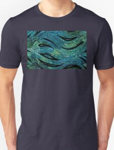 Collaged Fish with Miniature Aussie Tangle 023  Unisex T-Shirt
