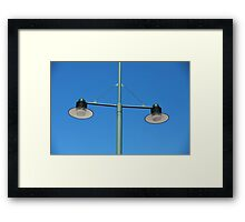 modern green Streetlight Framed Print