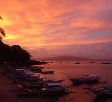 Sunset over Puerto Galera, Philippines by sailgirl
