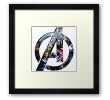 American superhero film Framed Print