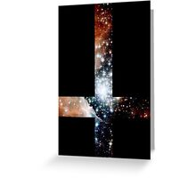 Red Galaxy Inverted Cross Greeting Card