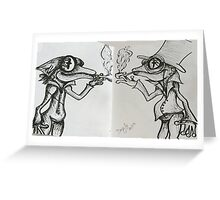 The Frog Brothers Greeting Card