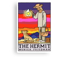 The Hermit and The Coyote Canvas Print