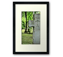 cross gravestone Framed Print