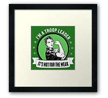 troop leader Framed Print