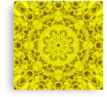 """Spirit of India: Fleur-Sun"" in golden yellow Canvas Print"